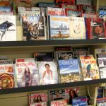 The magazine rack at St. Vincent de Paul's Fond du Lac.