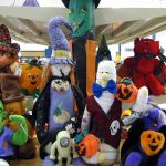 Halloween plush toys and decorations for sale at St. Vincent de Paul's Fond du Lac.