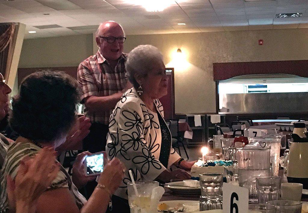 Olivia's 90th Birthday party.