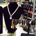 Women's jewelry including necklaces, earrings and bracelets for sale at St. Vincent de Paul's Fond du Lac.
