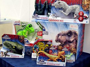 Jurassic Park toy collectibles, new in box.