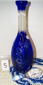 Polish 24% crystal wine decanter.