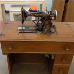 Vintage Singer sewing machine.
