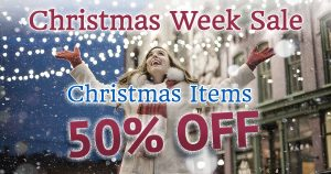 SVDP Christmas Week Sale: Christmas Items 50% Off.