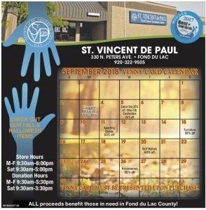 September 2018 Vinny Card Calendar