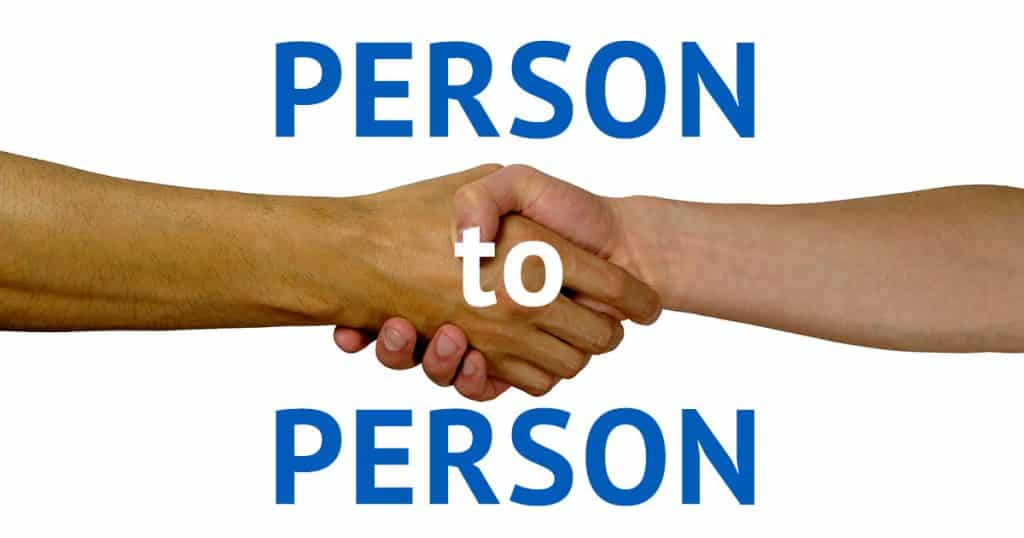 September Awareness 2018 (Week 3) Person to Person featured image.