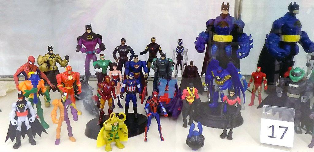 Set of Super Heroes action figures.