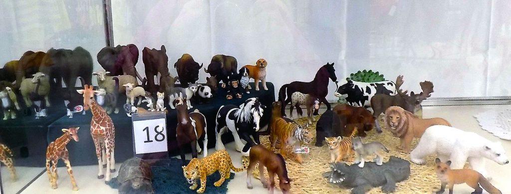 Schleich animal collection.