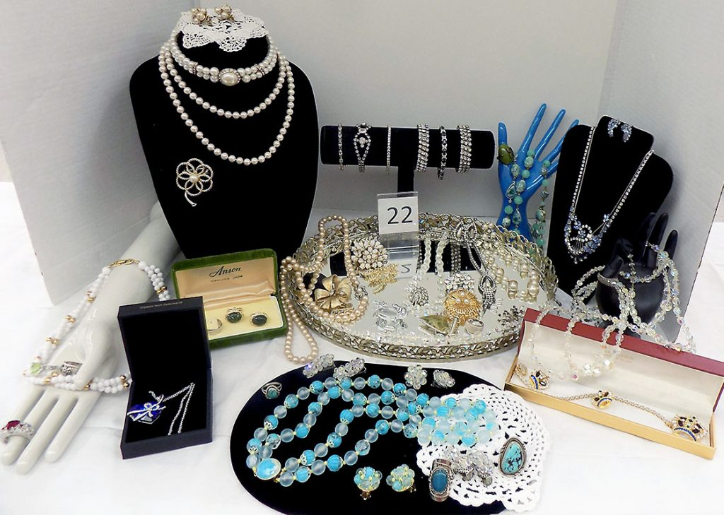 Extensive collection of women's jewelry.