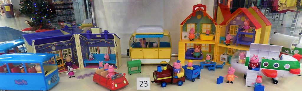Peppa the Pig figurines and accessories.