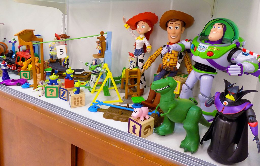 Extensive collection of Toy Story figurines and accessories.