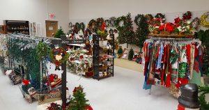 Christmas items section at St. Vincent de Paul Fond du Lac.