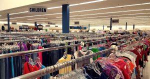 Clothing section at St. Vincent de Paul Fond du Lac, WI.