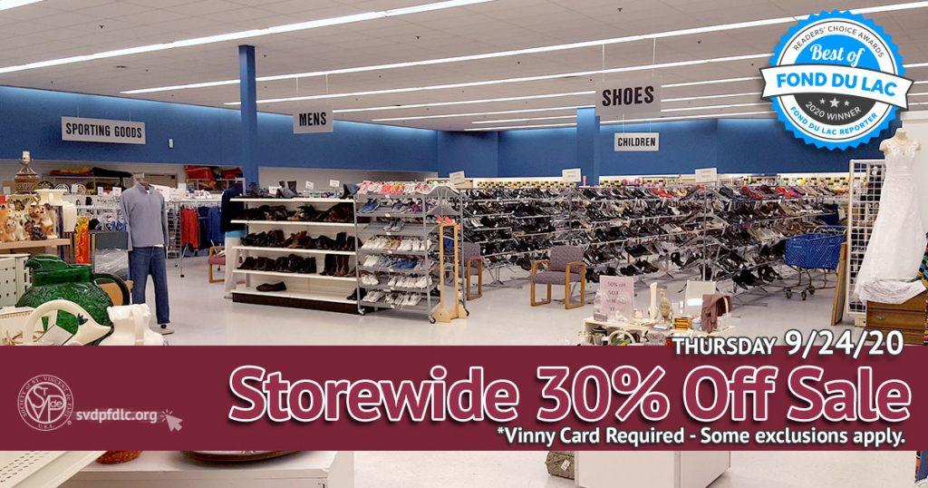 9/24/20: Storewide 30% Off Sale.