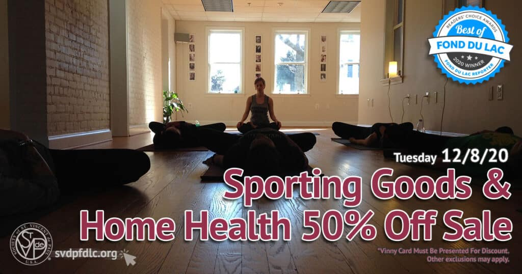 12/8/20: Sporting Goods & Home Health 50% Off Sale.