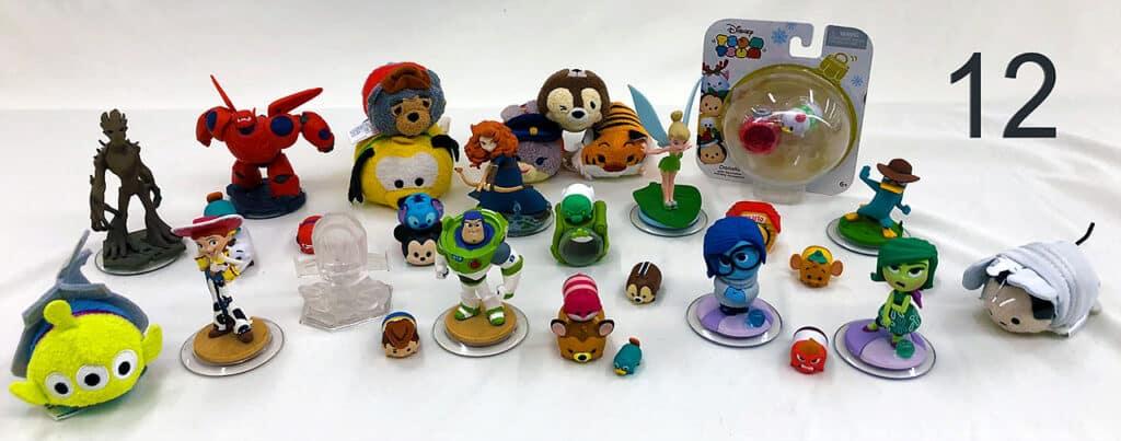 Disney figures.
