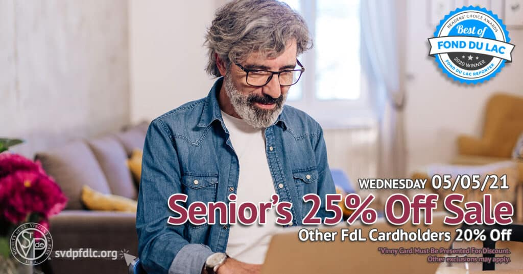 5/5/21: Seniors 25% Off, other cardholders 20% off.