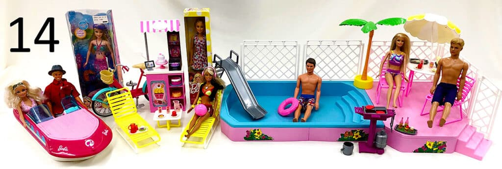Barbie doll toys.