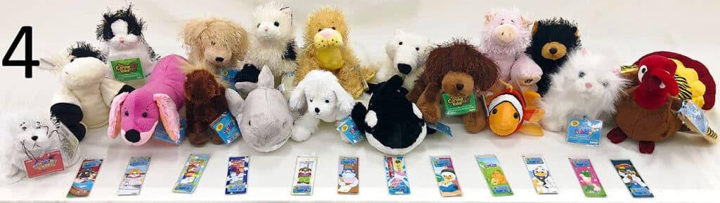 Webkinz stuffed animals.